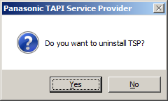 2.2 Uninstalling Panasonic TSP How to Uninstall TSP click Change/Remove or Uninstall/Change. 1.