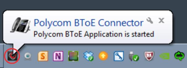 After you download and install the Polycom BToE Connector on your computer, you can start the application.
