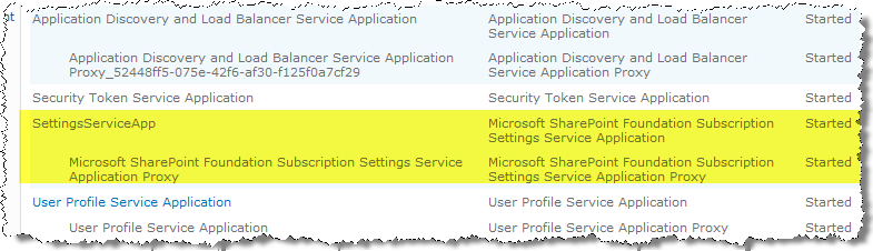 Create Subscription Settings SA http://gallery.technet.