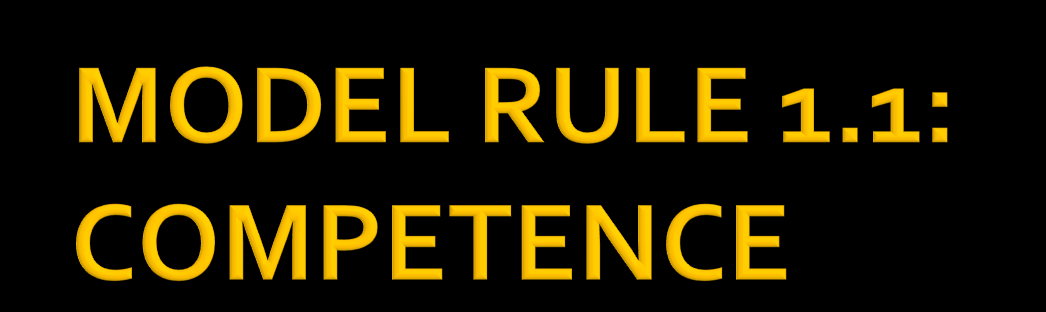 Model Rule 1.1 requires a lawyer to provide competent representation, and Comment [6] specifies that, to remain competent, lawyers need to keep abreast of changes in the law and its practice.
