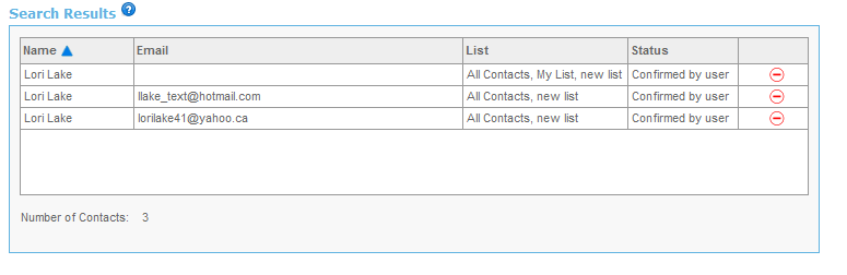 In order to edit a certain contact within that list click on a contact; the Edit contact page will open shown on previous page 3.