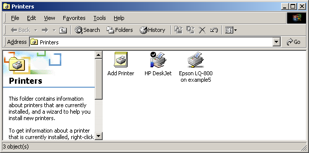 An example of using the Type the printer name option is shown in the following figure. 6. Click Next. 7.