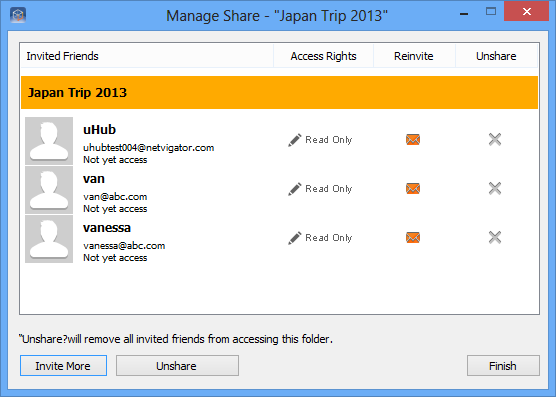 How to unshare a folder 1. Right-click the file and select uhub share > Private Share. 2.