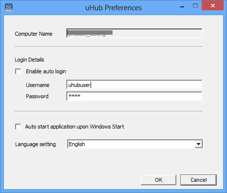 Hint: Windows Vista and Windows 7 users can switch quickly to different uhub accounts by changing the username and password under Login Details in this dialog box. uhub tray 1.