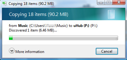 Hint: You can open your uhub folder quickly by double-clicking the uhub desktop icon or the uhub tray icon when the