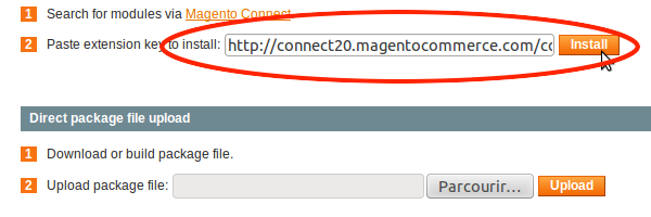 Go to your backoffice, paste the key on the page MagentoConnect Manager, then click on Install.