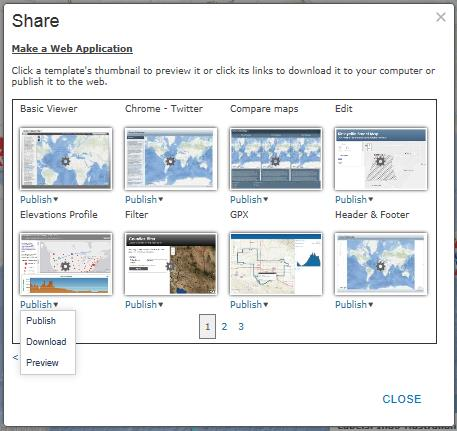 d. Choose to publish the Elevations Profile application. e.