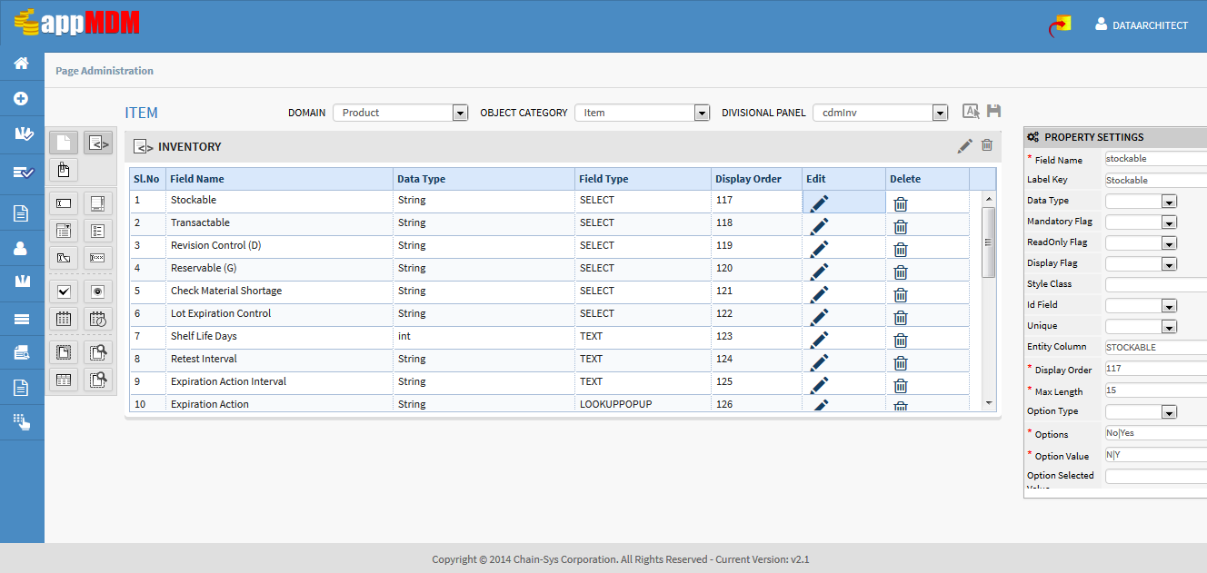 Screen Design Workbench: MULTIPLE DOMAIN HUBS appmdm provides complete flexibility on the Domains.
