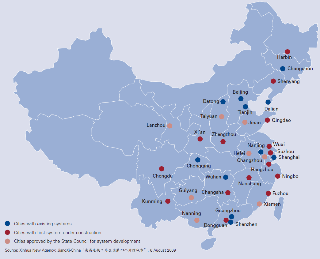 Sustainable Demand Infrastructure It is forecasted that by 2010, about 125 cities in China will have a population