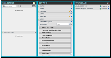 Settings pages You use the Settings pages, accessed via the Settings link, to configure various aspects of Call Center.