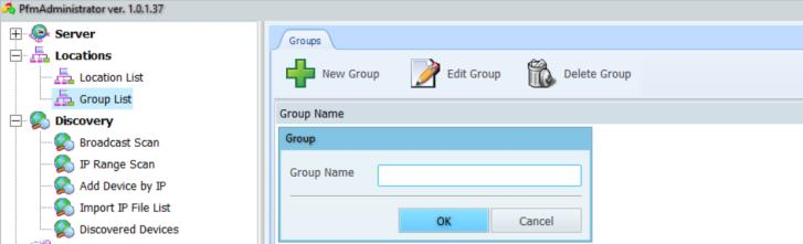- Group List - Create groups to categorise devices by Service Company, contract type or cost centre.