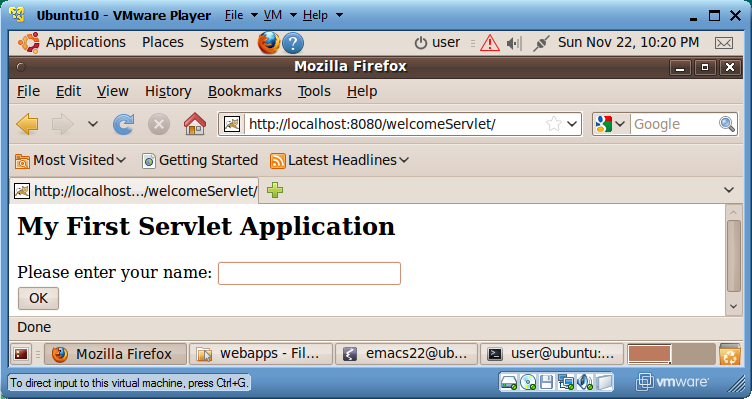 <servlet-class>welcome</servlet-class> </servlet> <servlet-mapping> <servlet-name>welcome</servlet-name> <url-pattern>/welcome</url-pattern> </servlet-mapping> <welcome-file-list> <welcome-file>main.