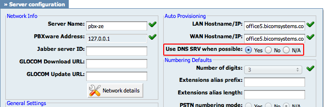 14 *123 to verify registration. 4.2.3.3 DNS SRV 1.