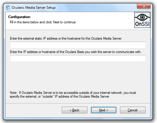Ocularis Media Server Installation and Administration Guide Installation of Ocularis Media Server Components 5. Click Next. 6. A License Agreement screen appears.