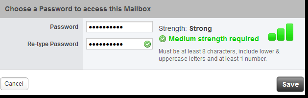 Click the Add a Mailbox button. Step 4 In the Choose a mailbox section. Select the type of mailbox you would like to create.
