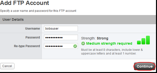 Adding more FTP users Log in to your control panel and click the Hosting Packages tab. Select the domain that you want to add another FTP user to. Click the FTP icon.