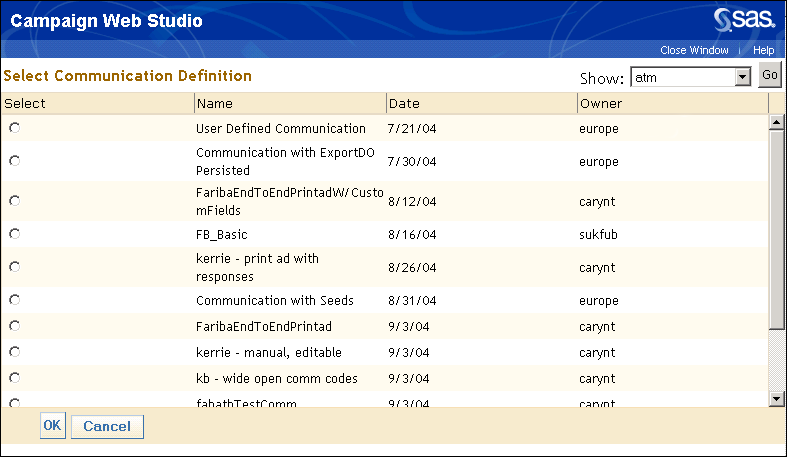296 Chapter 10: SAS Campaign Web Studio (User-Defined) Section Expand the User-defined variable section or sections to display any user-defined categories that were set up when the campaign