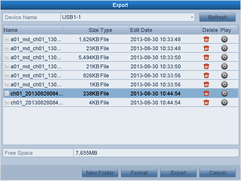 Figure 7. 18 Export Finished 6. The exported video clips will be displayed on a list.