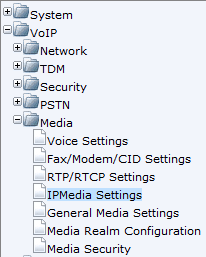 AudioCodes Mediant 800 MSBG Page 12 of 66 6. Navigate to VoIP > Media > IPMedia Settings 7. Enter in the Number of Media Channels necessary to meet the configuration needs.