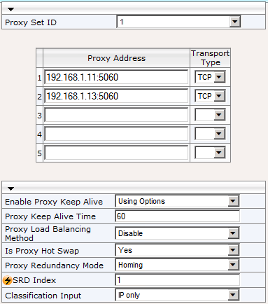 AudioCodes Mediant 800 MSBG Page 15 of 66 14. Navigate to VoIP > Control Network > Proxy Sets 15.