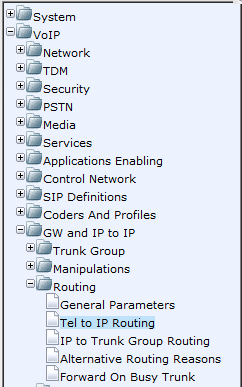 AudioCodes Mediant 800 MSBG Page 30 of 66 8. Navigate to VoIP > GW and IP to IP > Trunk Group > Trunk Group Settings 9.