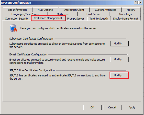 AudioCodes Mediant 800 MSBG Page 45 of 66 Configuration 10. Click the Port-To-Certificate Mappings tab. 11.