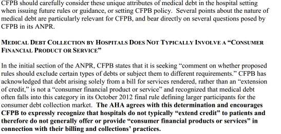 Jurisdiction over Medical Debt: Unknown Territory American Hospital