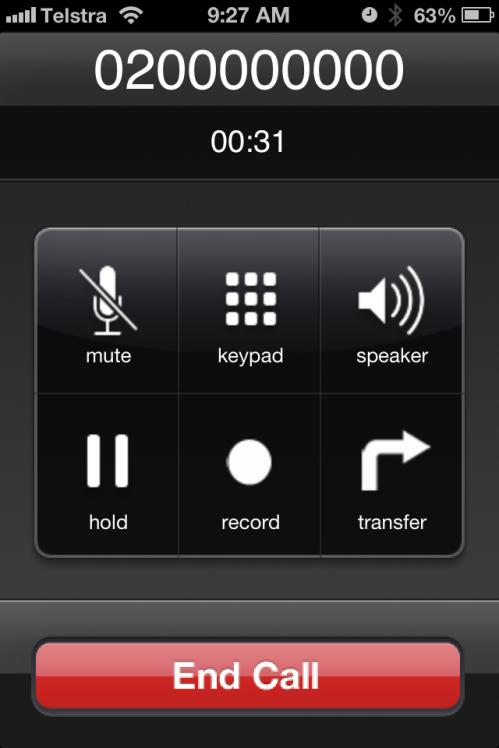 To transfer the call: Tap the Transfer icon in the interface menu while on an active call.