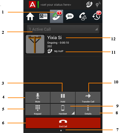 how to view active calls for a vxml application