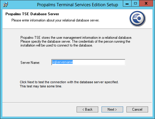 The TSE Application server role requires Remote Desktop Services to be enabled.