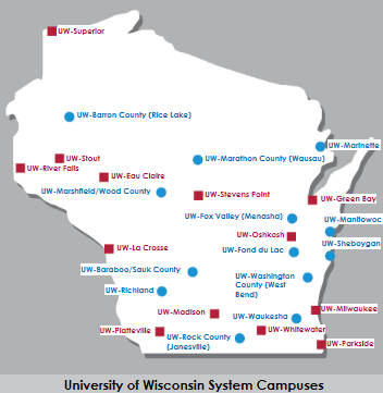 University of Wisconsin System UW-Colleges Associate Degree Collaborative Degrees 13 Locations UW-Colleges