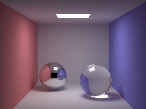 Path tracing : problems Variance in the pixel colours, appearing as noise Need many samples for precise results