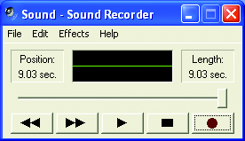 Step 7: After completion, click Start, point to All Programs, point to Accessories, point to Entertainment, and then click Sound Recorder to begin the sound recording.