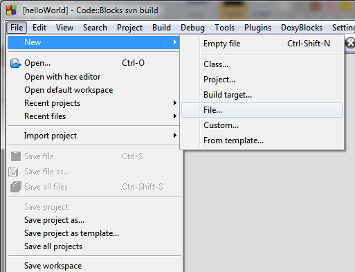 6. The project node opens in manager window as shown in figure 33. The project node is empty and we have to add files to the project. Figure 33: Project node with no files 7.