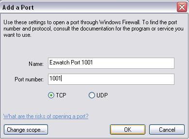 Step #6: Firewalls: If you are using any type of firewall whether it is software or hardware, you will need to open up ports 1201, 1001, 1201, 1901 and 80 or 8000.