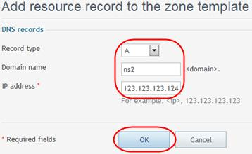 Step 7 Customer Support Plesk 11 Manual Click the Add DNS record icon to add in the NS record for your second nameserver.