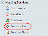 Adding a subscription for hosting a new domain Step 1 From your Plesk control