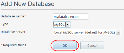Step 4 Select the Databases icon.