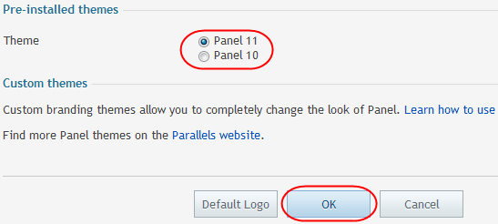 Step 4 To change the default Parallels logo with your own, select Browse under the Logo file section and locate your logo from your local computer.