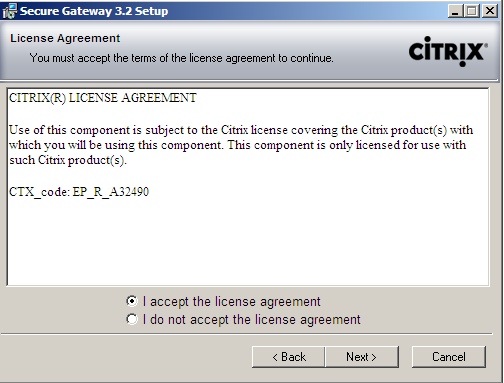 Installing Citrix Secure Gateway 1.