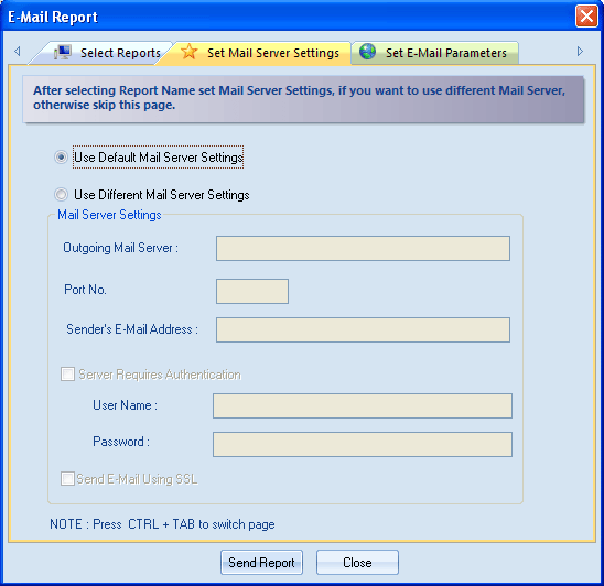 Figure 4.82: Configuring Mail Server Settings 4.