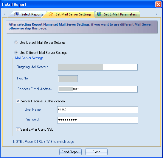 Figure 4.82: Entering User Authentication for setting mail server 6.