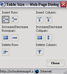 Editing a Table or Cell Once a table is inserted, you can edit its size and formatting.