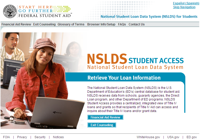 FINDING FEDERAL STUDENT LOANS National Student Loan Data System www.nslds.ed.