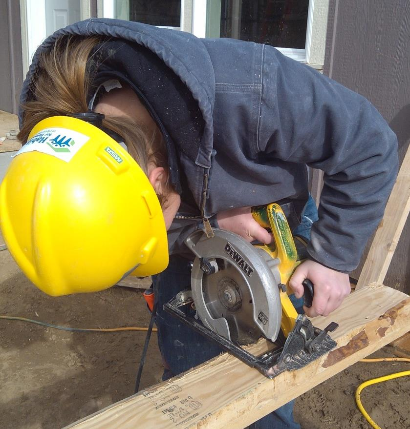 Safe Tool Use: Circular Saws Never lean over the open side of a circular saw. Always remain on the protected side.