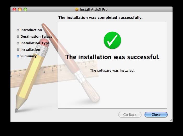Once you have done so, the installation will take about 1 minute, before displaying the following success screen: The installation has completed