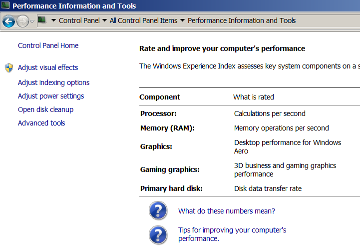 The Performance Options dialog appears. 5. Click Adjust for best performance.