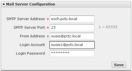 Polycom RealPresence Content Sharing Suite Administrators Guide To configure a mail server: 1 Log in to the RealPresence Content Sharing Server Web Configuration Tool and select Admin > Mail Server.