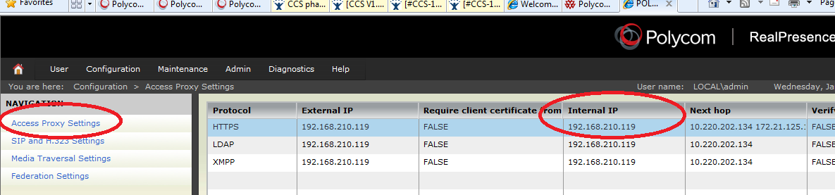 Polycom RealPresence Content Sharing Suite Administrators Guide 3 In the RealPresence Access Director window, click Add, enter the internal and external IP addresses of RealPresence Access Director,