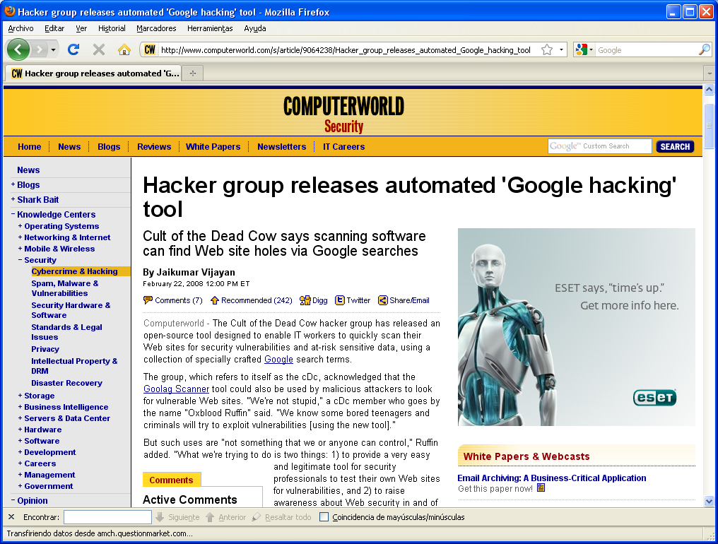 Attackers tools Automated tools http://www.computerworl d.